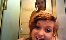 Wet Teen Lesbians Licking In The Shower