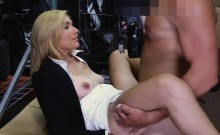 Hot blond milf pounded in storage room