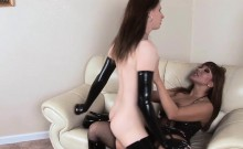Busty milf anal fucked by sexy shemale