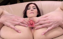 Masturbating and gapping her vagina pussy