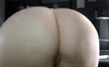 White Chick Teasing Her Big Ass