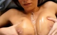 Busty mama takes a huge load on her boobs