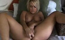 Horny Blonde With Thick Legs