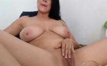 Big Tit MILF Touching Pussy on Webcam