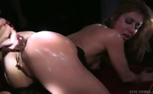 Sheena Fits Big Toys In Her Tight Ass With Guys Hold Lights.
