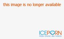 Sexy slut gets cum on her wet pussy