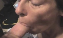 Old And Weathered Brunette Street Whore Slurping Dick