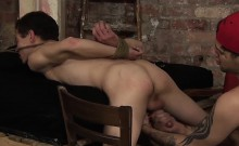 Cute Jonny Pistol gets his arse owned by hot Mickey Taylor