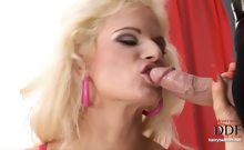 Hairy Blonde Gives A Blowjob
