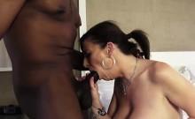 Sara Jay pleasures a big black cock