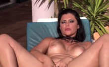 Busty MILF bitch gets her anus fucked by the swimming pool