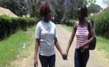 African babes enjoy in lesbian sex