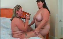 Wild lesbo BBW girlfriends working their big breasts