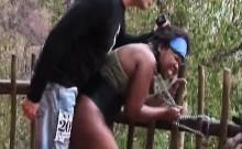 Enslaves ebony with huge tits, safari fuck problems