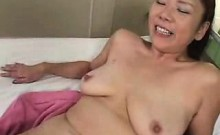 Busty mature gets her bush fingered and then her clit vibra