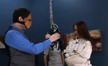 11-16-2016 - divinely hardcore BDSM rope sex with anal actio