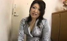 Foxy Asian real estate agent gives him a blowjob to seal th