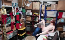 Redhead Thief Krystal Orchid Bend Over For Frisking