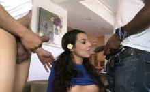 Lou Charmelle drilled in pussy and ass by black dicks