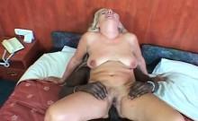 Hardcore interracial sex for blonde mature