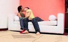 Cute sexy Brazilian gay jocks long uncut cocks hot sex