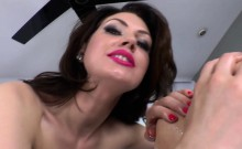 Strapon mistress rims her sub before pegging