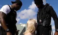 Blonde Hoe Kiki Parker Gets Spit Roasted By Cops