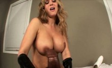 Beth's Handjob in Leather Gloves