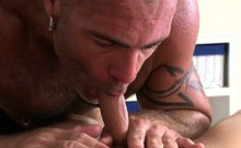 Hot Hunk Is Getting His Wang Sucked By Homosexual Masseur