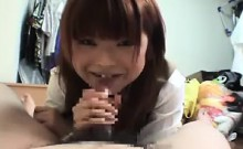 Dazzling Japanese schoolgirl exposes her hairy pussy and su