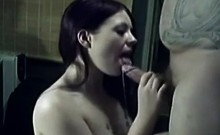 Naughty amateur teen girlfriend cumshot in mouth