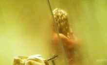 My Showering Sister With Tan Lines