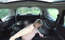 Fake cop fucking blonde amateur in car