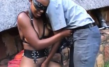 Kinky African Slaves In Bdsm Suit Fingered