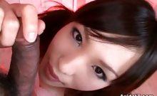 Sexy Asian Siren Gives Her Man A Tongue Job