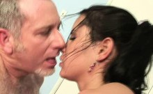 Dirty Old Man Drilling Pretty Brunette Teen From Behind