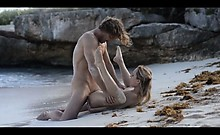Extreme Art Penetrate Of Horny Couple On Beach