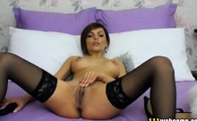 Elegant lady shows her charms on webcam