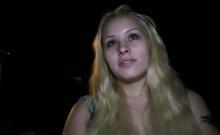 Blonde russian amateur fucked outdoor pov