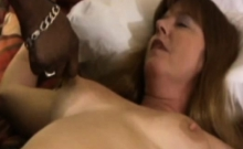 Busty roped mature got licked
