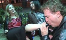 Guy Sucking Some Girls Feet In Public