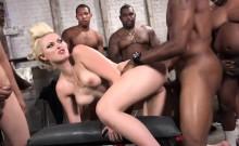 Jenna Ivory Gets Gang Banged By Hung Black Guys