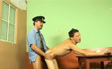 Twink sucks cock and get fucked anally b y acop