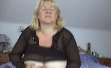 Insatiable blonde plumper has a sex toy making her hungry p