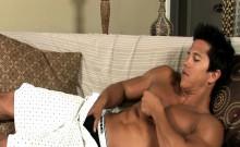 AJ Irons straight pornguy strokes his cock