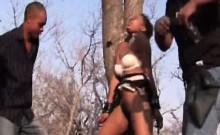 Horny black African teen fucking sucking bdsm