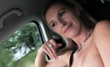 Big juggs hitchhiker Alena gets her pussy drilled in public