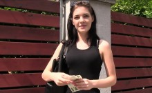 Young beautiful babe fucks agent outdoor