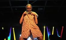 sexy strip show on public stage