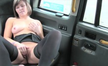 Hot lady in stockings fucked and gives a nice footjob